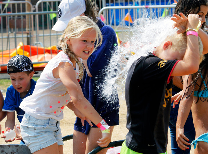 Kinderen spelen bij Jeugdland in Etten-Leur. Foto is van 2018.