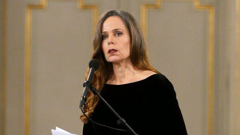 Sara Danius, secretaris van het Nobelprijscomité. Beeld epa