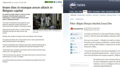Aanslag sjiitische moskee Anderlecht gaat de wereld rond