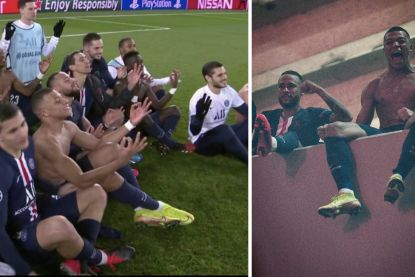 """PSG-sterren bouwen buiten Parc des Princes feestje met fans, al zorgt Haaland-imitatie voor wrevel: """"Gebrek aan klasse"""""""