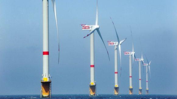 Windmolens voor de Belgische kust(archiefbeeld).