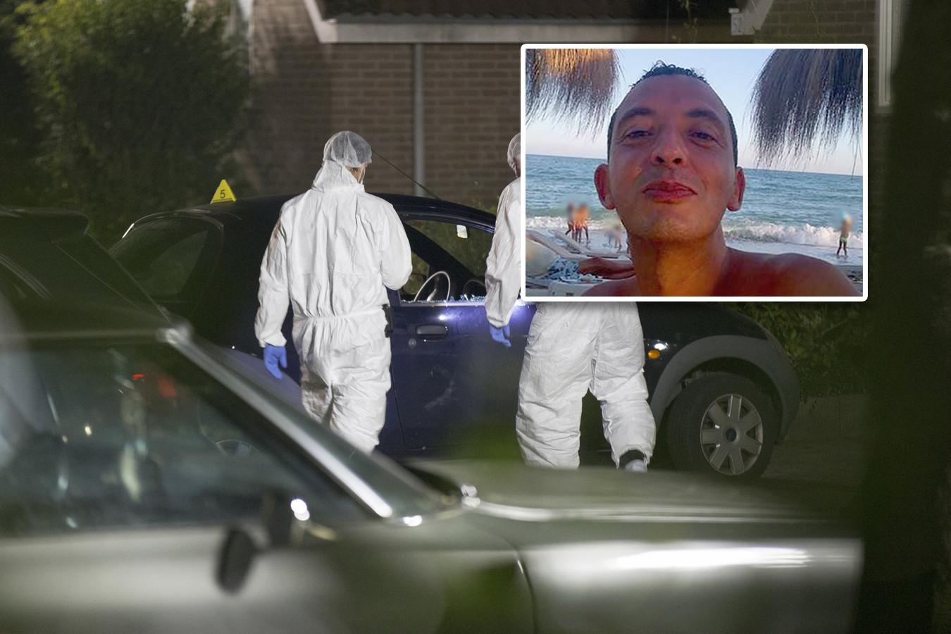 Spyshopmedewerker Ronald Bakker werd in september 2015 in Huizen vermoord. Ridouan Taghi in kader. / AD fotobewerking