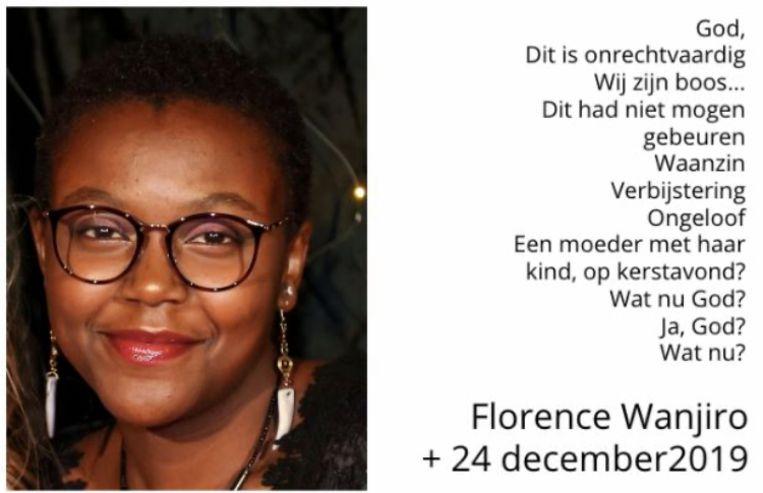 Dit rouwbericht postte de school van Florence op Facebook.
