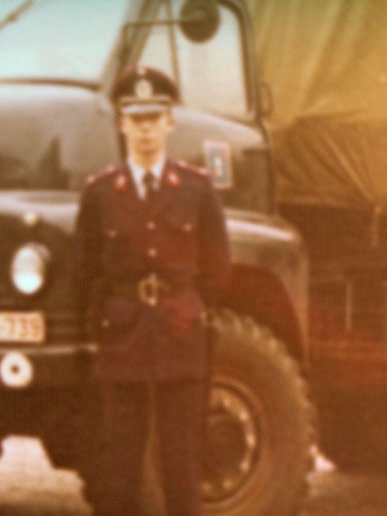 Pierre Schippers toen hij in 1975 bij de toenmalige rijkswacht in dienst trad.