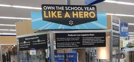 Excuses van Walmart voor wapens als 'terug naar school'-artikel