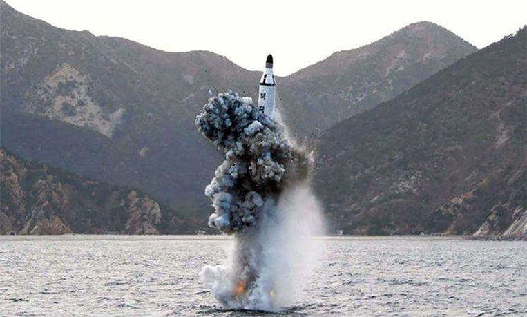 Noord-Korea vuurde dit jaar nog al ballistische raketten af.