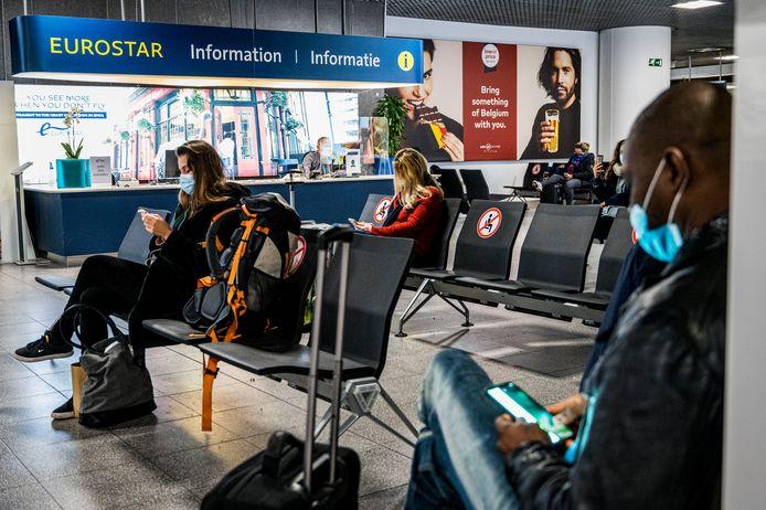 Illustratiefoto: wachtzaal bij de Eurostar in Brussel-Zuid.