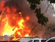 Brand veroorzaakt grote explosie in Amerikaans Portland