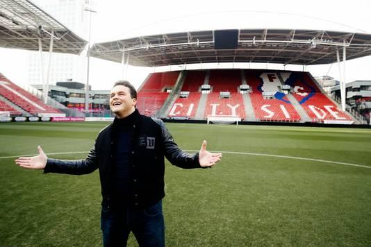 Vanmiddag nam Dissel zijn videoclip op in stadion Galgenwaard.