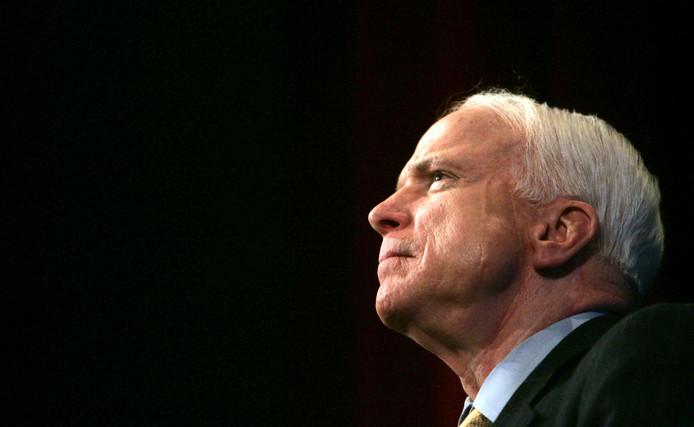 De Amerikaanse senator John McCain, die zaterdag op 81-jarige leeftijd overleed.
