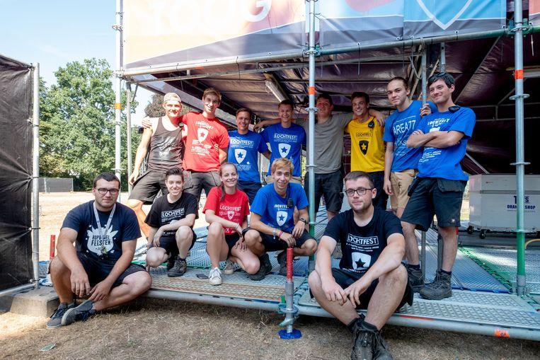 Het organisatiecomité van LochtFest vorig jaar.