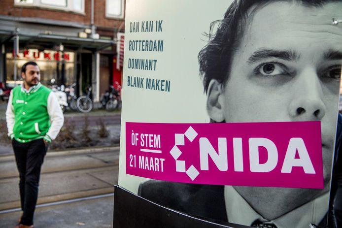 De op de Islam geïnspireerde partij NIDA, opgericht in 2013, begon in Rotterdam in de lokale politiek. Vorig jaar kondigde de partij aan landelijk te gaan. 'NIDA' is een begrip uit de Koran en betekent 'oproep' en 'stem'.