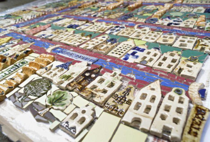 Keramieken Kaart van Delft