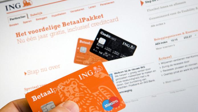 Internetbankieren van ING. Archieffoto.