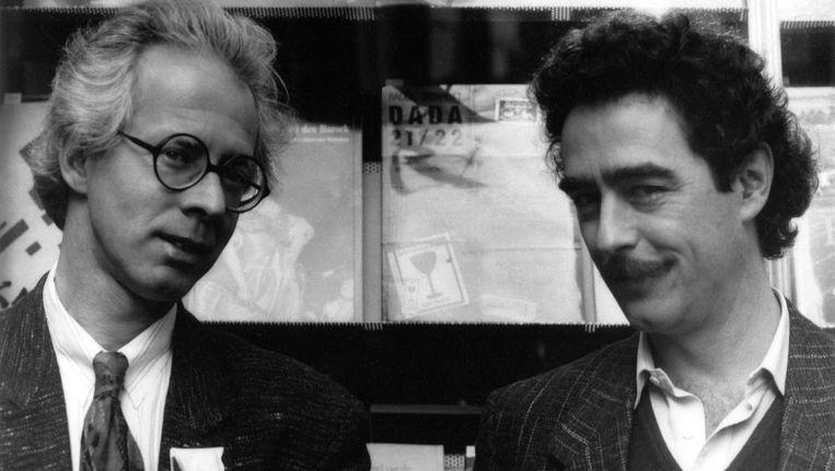 Warren Lee (r) en Frank Nijhof, 1989 Beeld Michiel van den Berg