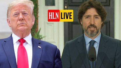 HLN LIVE. Een vraag over Trump, een lange pauze en dan een érg krachtige speech van Trudeau