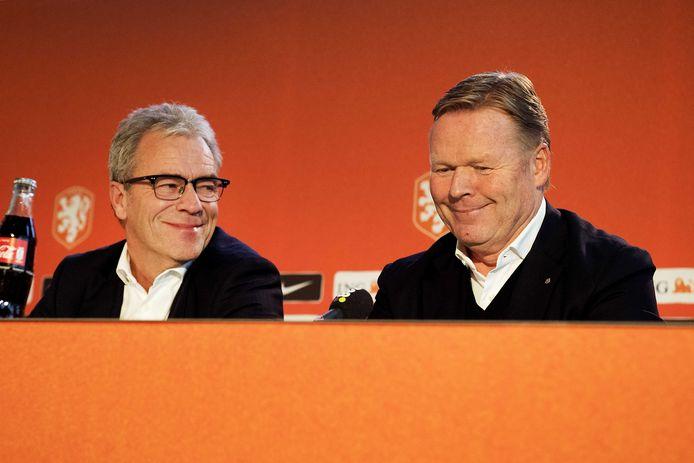 Algemeen directeur Eric Gudde en Ronald Koeman.