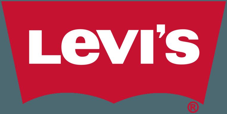 Het logo van het populaire kledingmerk Levi's.