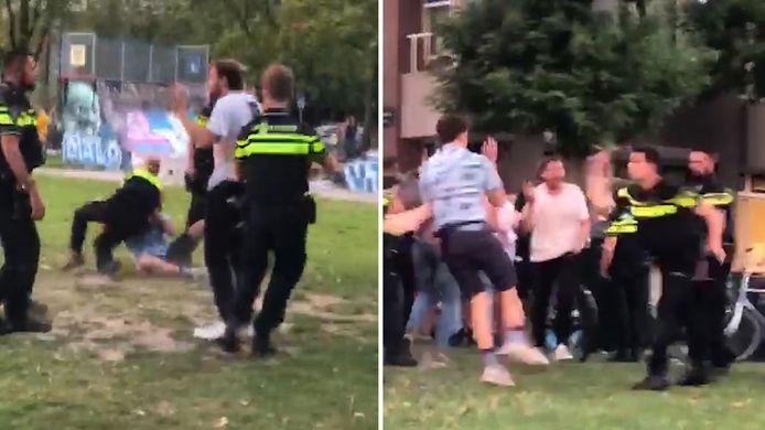 Politie treedt hard op bij Park Paardenveld in Utrecht