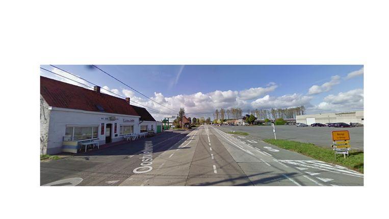 De plaats van het ongeval op de N8