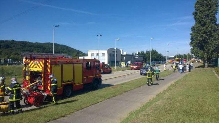De brandweer is inmiddels ter plaatse. Beeld Le Dauphiné Libéré