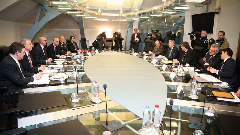 archief - Een vergadering van de Nationale Veiligheidsraad.