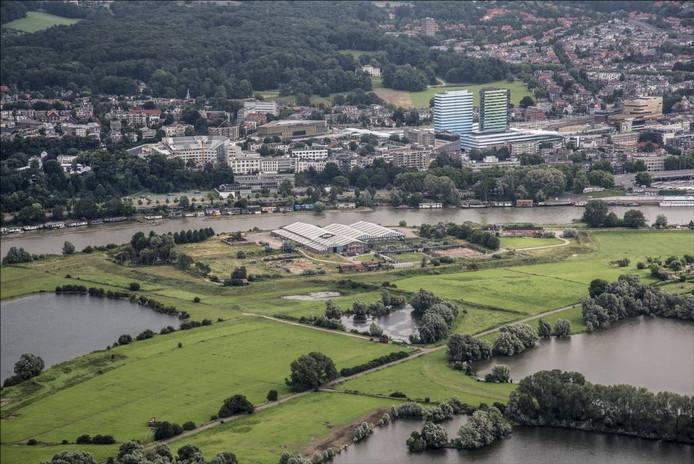 Stadspolder Meinerswijk in Arnhem-Zuid met het oude steenfabriekterrein.