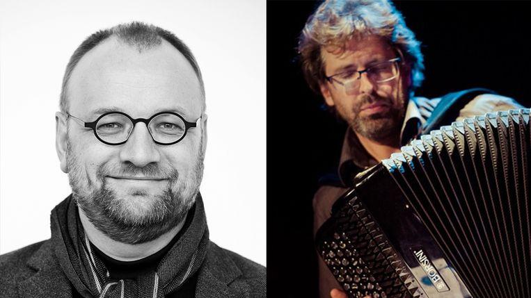 De twee artiesten van het Kasteelconcert.