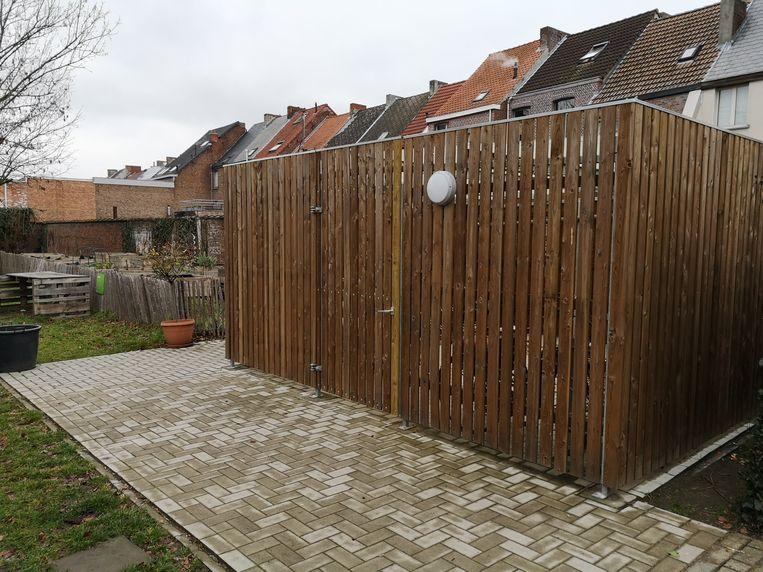 De nieuwe buurtfietsenstalling in de Hoveniersstraat in Mechelen