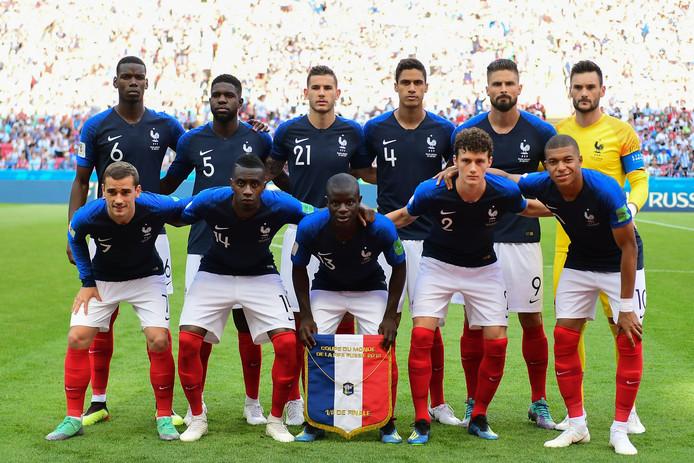 Het nationale team van Frankrijk.