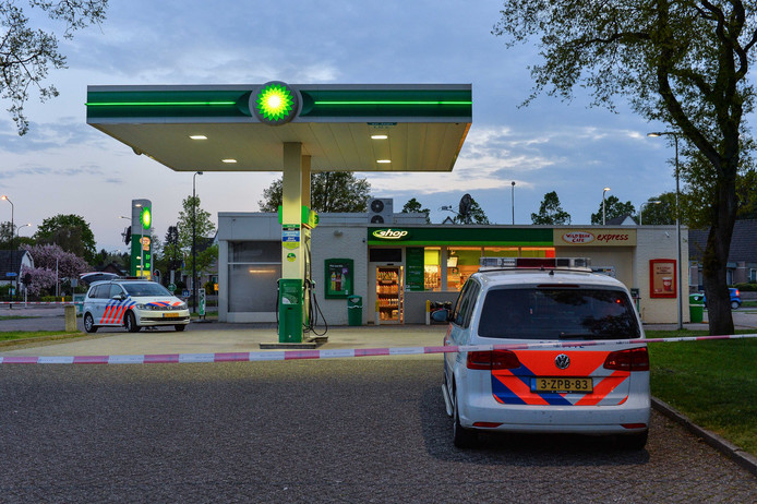 Het tankstation aan de Laan van Orden werd op Koningdag overvallen.