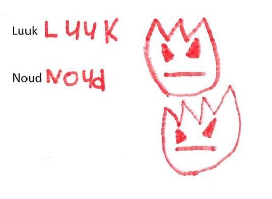 De handtekeningen van Luuk en Noud