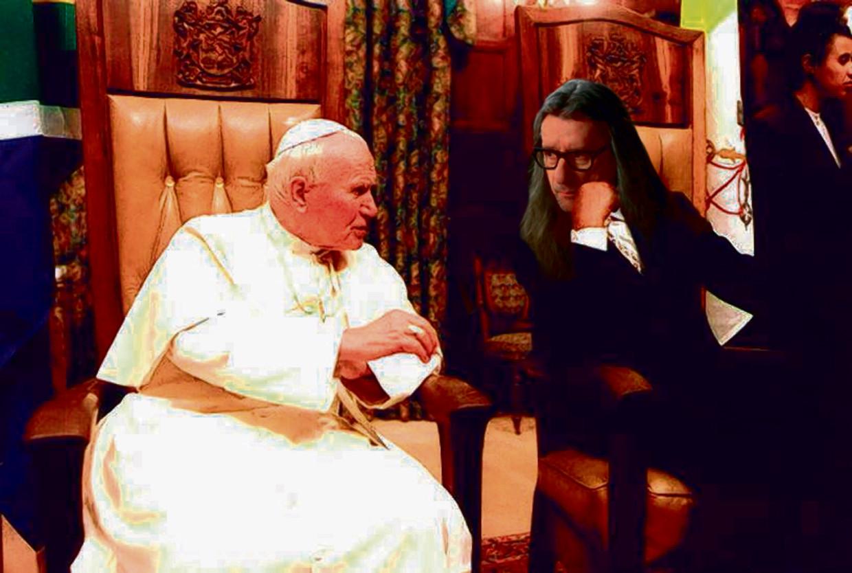Herman Brusselmans en Paus Johannes Paulus II Beeld Epa