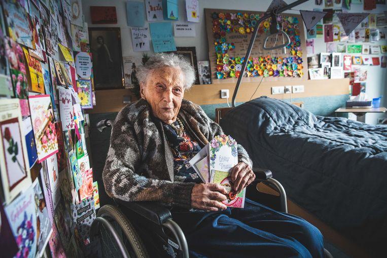 Elza Roels was dolgelukkig met alle hartverwarmende verjaardagswensen.