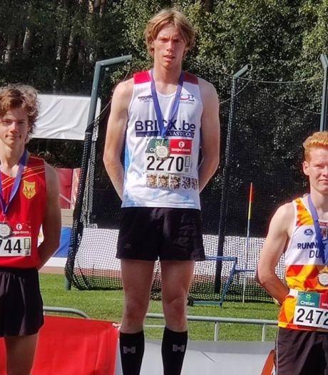 """Aaron Van Lersberghe wint goud op Vlaams Kampioenschap 1500m : """"Tactisch plannetje klopte helemaal"""""""
