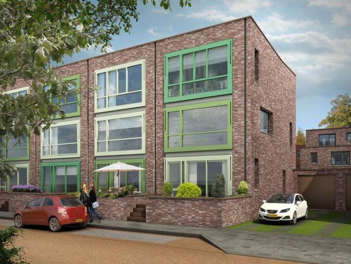 Een impressie van Het Nieuwe A in de Arnhemse wijk Malburgen-West. Illustratie: Volkshuisvesting Arnhem