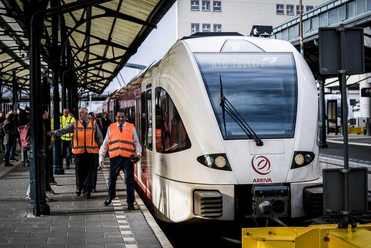 Arriva testte vandaag in Nederland de eerste zelfrijdende trein in Europa met passagiers.