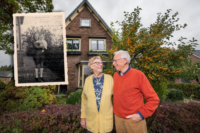 Siny Holdijk-Put en Frans Waters zien elkaar na 75 jaar weer terug in Loenen.