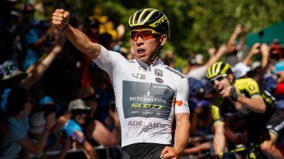 Thuisrijder Caleb Ewan wint tweede etappe in Tour Down Under