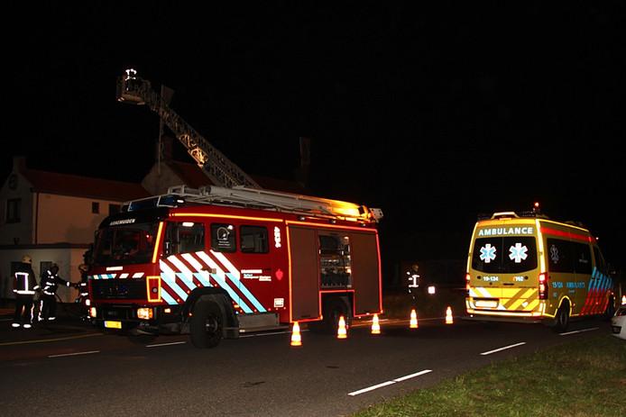 De brand in voormalig restaurant de Roode Leeuw in Nieuw- en Sint Joosland