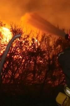 Brandweer strijdt tegen vuurzee in Zuid-Frankrijk