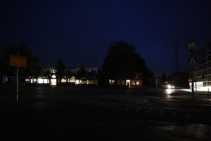 De straatverlichting in Cuijk viel donderdagavond uit.
