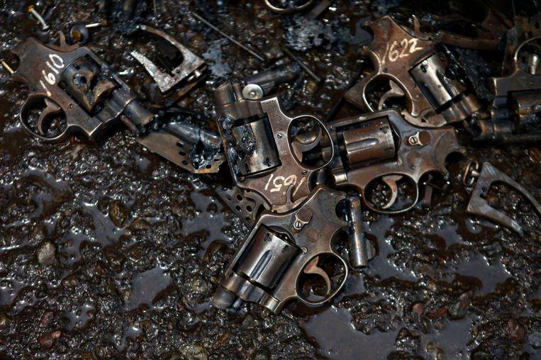 In beslag genomen wapens. Beeld REUTERS