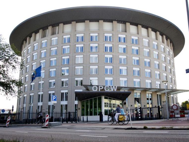 Het hoofdkantoor van OPCW in Den Haag. Beeld null