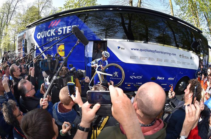 Boonen verlaat de bus