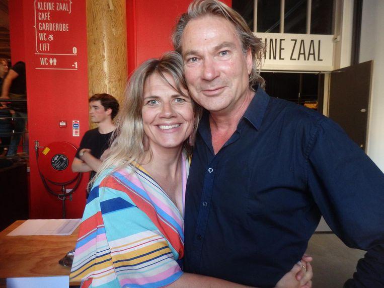Cécile Koekkoek (Varagids): 'Moet mijn man niet ook op de foto?' Peter Kee (Pauw): 'Neeeh! Dit is veel spannender' Beeld Schuim