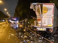 A20 weer open na verwoestende crash: vrachtwagenchauffeur zwaargewond