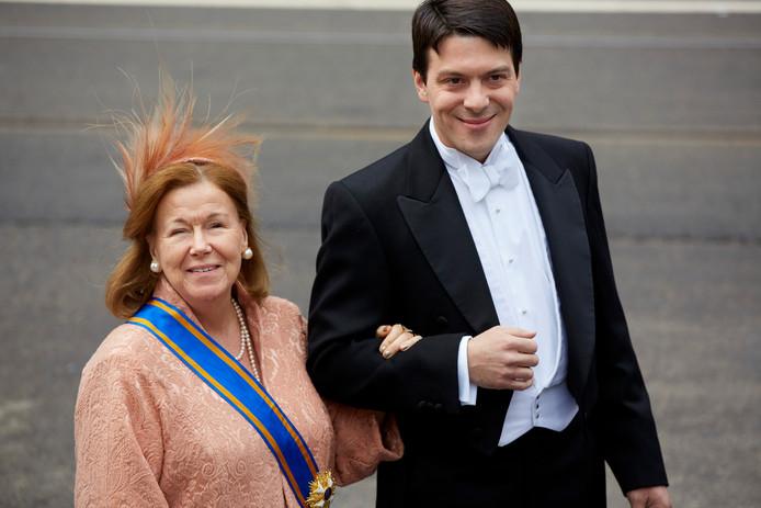 Prinses Christina met haar zoon Bernardo, hier in 2013.