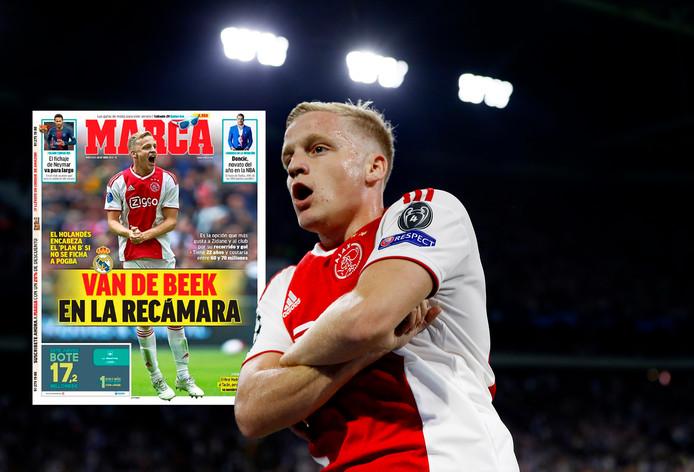 Donny van de Beek. Inzet: de cover van Marca