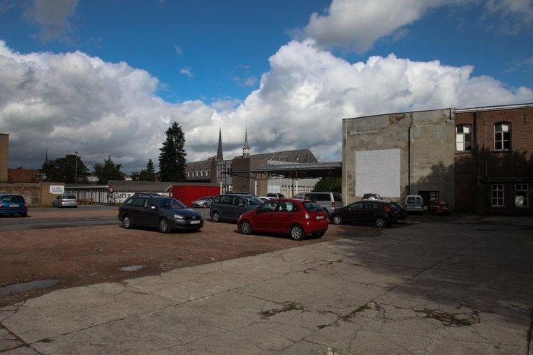De parking op de Collegesite in Tielt.
